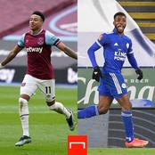 Iheanacho and Lingard score 2 goals each to become the highest goal scorer in EPL since February