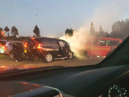 Eight People Injured In A Grisly Road Accident Along Machakos- Nairobi Highway
