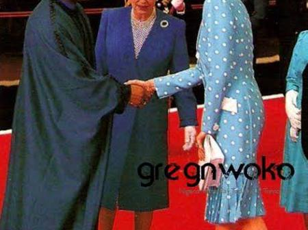 Photos Of Queen Of England with Tafawa Balewa, Gowon, Shagari, IBB, Abacha And Obasanjo
