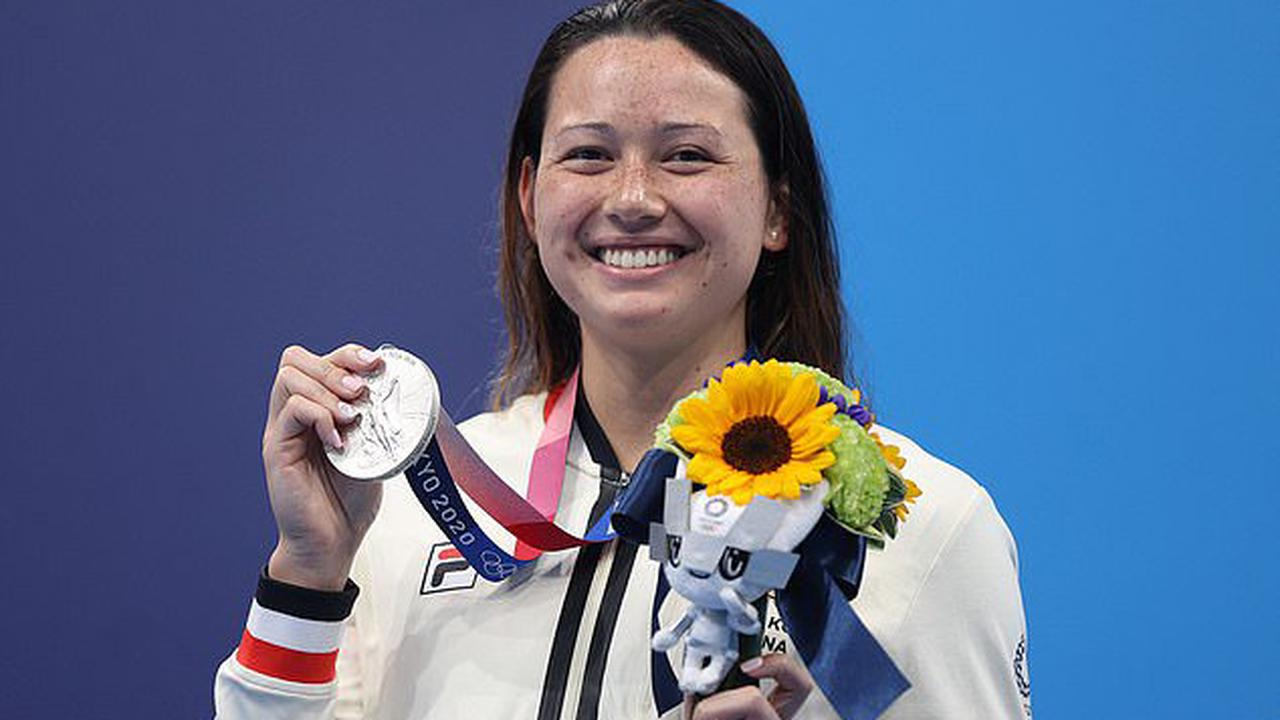 Hong Kong swimmer Siobhan Haughey wins a second medal of the Games