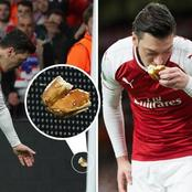 Throwback: Moment When Ozil Kissed A Bread Which Was Thrown At Him Atletico Madrid Fan.