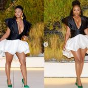 Nomzamo Mbatha known as former Isibaya actress causes commotion with her recent stylish outfit.