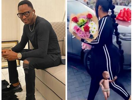 Former Delta state deputy speaker, Hon Friday Osanebi buys his wife a Range rover as a birthday gift