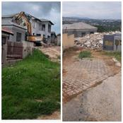 HAIBO! Famous businessman demolishes the house he built for his girlfriend after she dumped him.