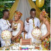 See Pictures of Identical Twin Brothers Marrying Identical Twin Sisters in Ghana!