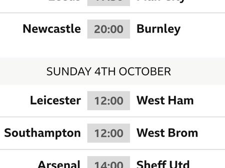 Checkout the EPL fixtures for this weekend and find out who your favourite team is playing