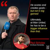 After ManU Legend Scholes Criticized Him For Not Performing In Big Games, See Fernandes Reply To Him