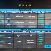 Stake on these Well Analysed Football Matches and Win Today.