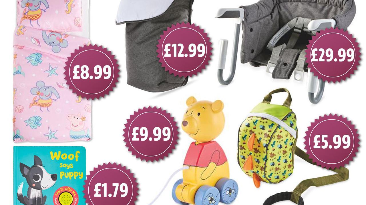 Aldi brings back its baby and toddler sale and prices start from £1.80