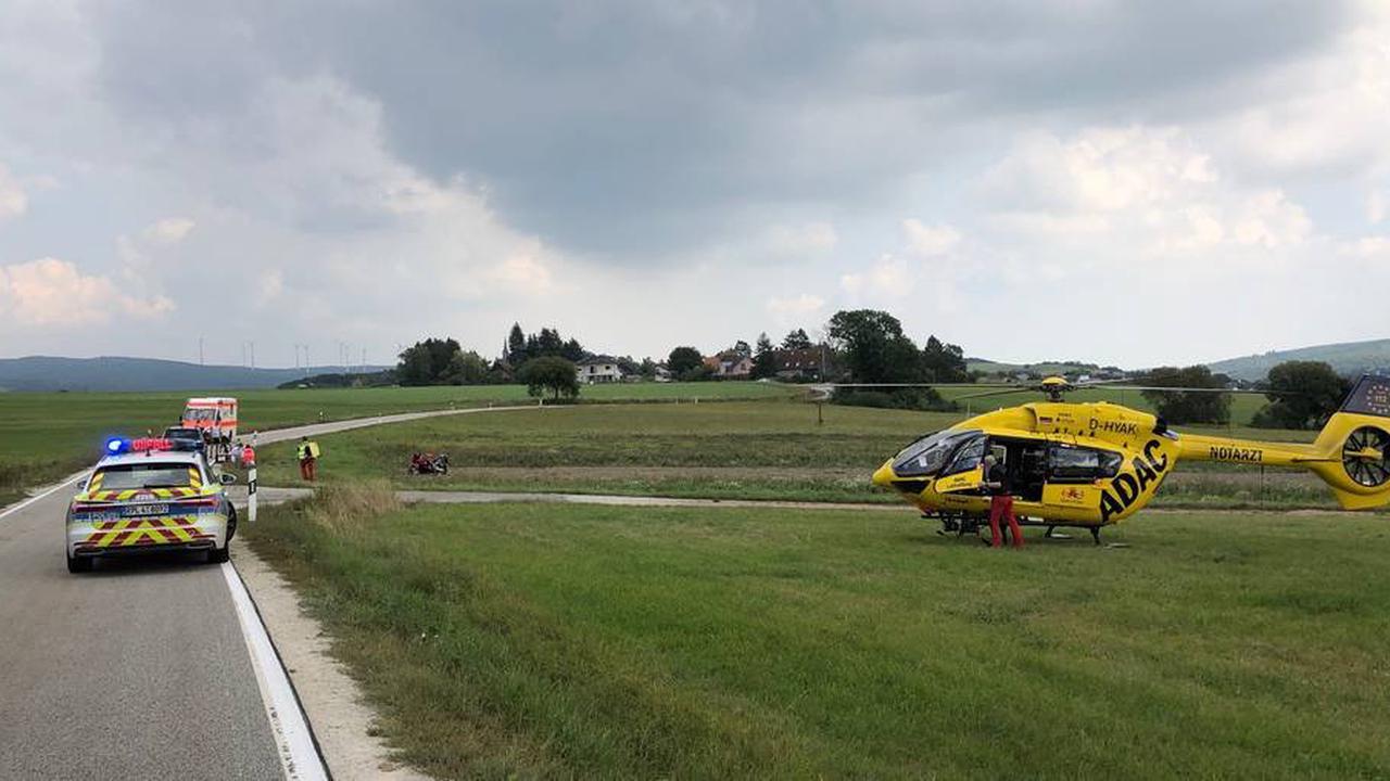 Motorradfahrer überschlägt sich auf K32 bei Bad Kreuznach
