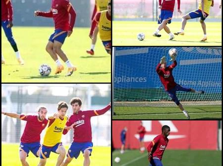 Check out photos of Dembele, Sergino Dest, Alëna, and other players during today's training session