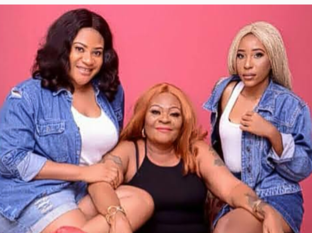 See Beautiful Photos Of Nkechi Blessing's Mother And Sister, Jennifer