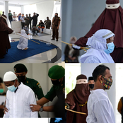 PHOTOS: 4 Muslim Couples Caned for Sleeping with Women Outside Of Marriage in Indonesia