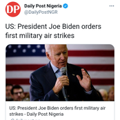 Joe Biden Orders First Military Air Strikes, Lai Mohammed Mocked By Fani-Kayode