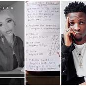 PHOTOS and VIDEO: Watch How a Girl Takes Her Time to Write Down all The Endorsement Deals of Laycon