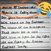 """""""Arise O Compatriots"""" See Reactions To A Writeup Concerning #Endsars That Was Posted On Facebook."""