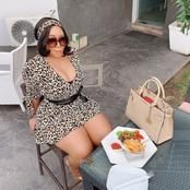 Nollywood Actress, Shows Off Her Meal