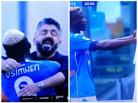 After 2 Games Without Scoring, Osimhen Scores His First Napoli Goal, Shows Off #EndSARS Polo