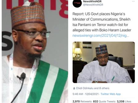 After Buhari's minister was accused of being on US Terror watch list, see what the presidency said