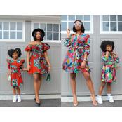 Mothers, Show The World How Much You Love Your Daughter With These Stunning Matching Outfits