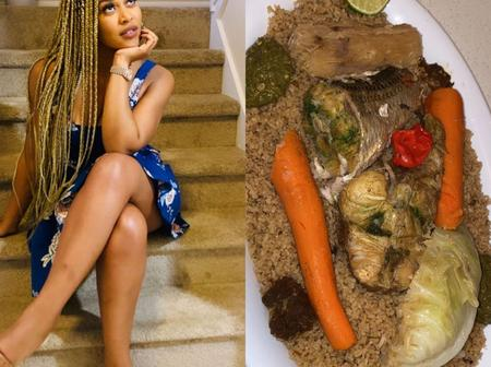 Davido's Second Babymama Amanda Cooks Like A Chef, Check Out Pictures Of Her Mouth Watering Dishes
