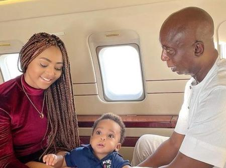 Regina Daniels Shares Photos Of Her Husband And Child