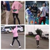 VIDEO:18 Moyeng from Vaal flashes expensive clothes with a walk