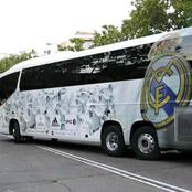 Liverpool's Fans Hits Real Madrid's Bus With Stones