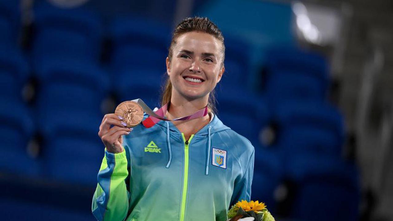 Elina Svitolina reagiert auf den Gewinn der Bronzemedaille bei Tokio 2020