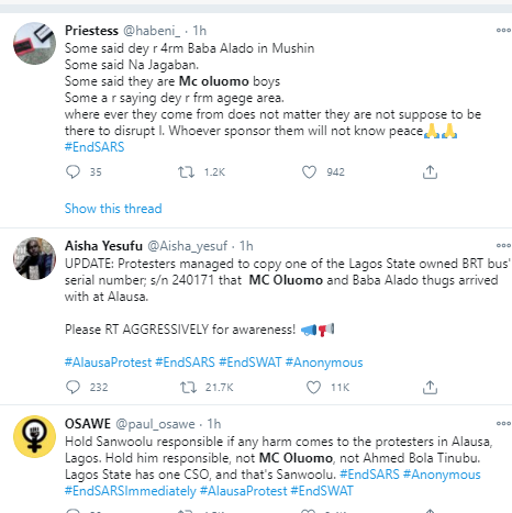Nigerians react after thugs with machetes attack #EndSARS protesters in Lagos
