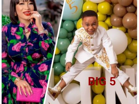 Nollywood Actress Tonto Charity Dikeh Celebrates Her Son In A Memorable Way As He Clocks 5 Years.
