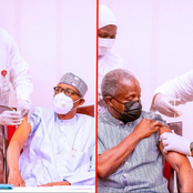 Pres. Muhammadu Buhari & VP. Yemi Osinbajo Finally Takes COVID-19 Vaccine, Checkout Photos