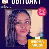 Corper Ifeoma, who died in Police Custody was killed few weeks to her Wedding. See timeline Pictures