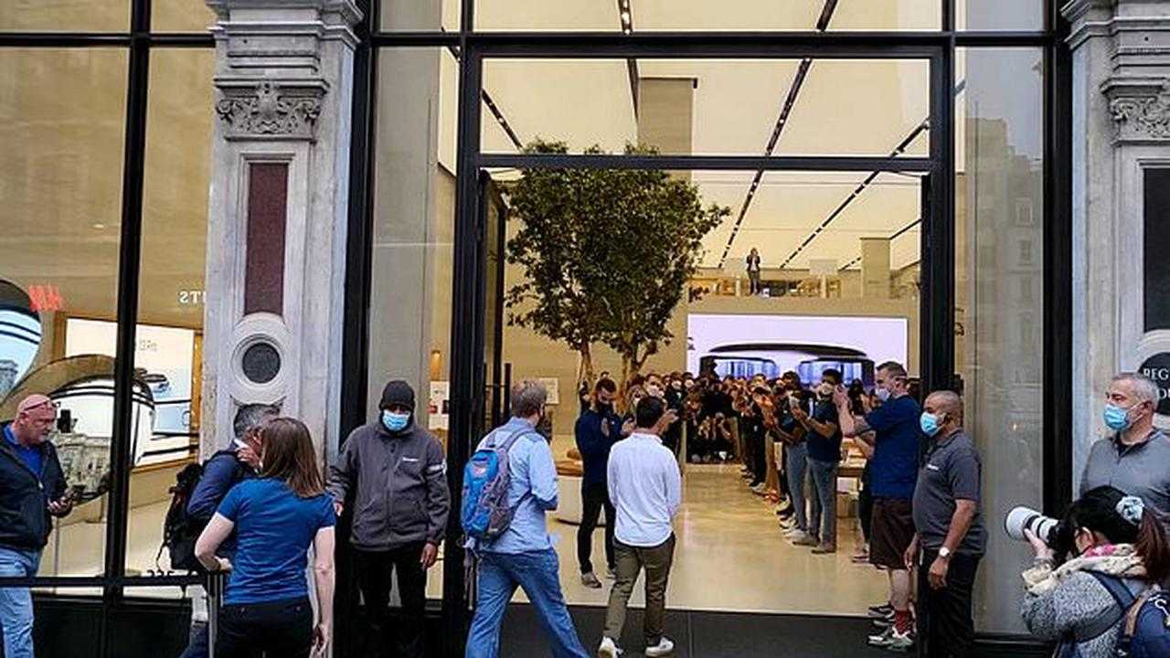 Apple fans queue up as iPhone 13 goes on sale in the UK today