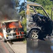 Taxi Burnt Down To Ashes At The CBD (see pics)