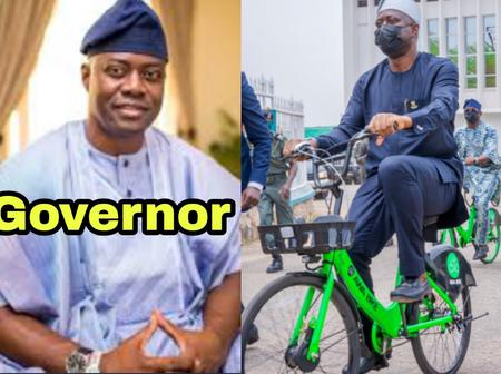 Meet The Governor Who Was Seen Riding Bicycle in Public Hours Ago