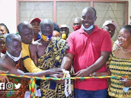 Hon Kwame Asiamah Advises Ghanaians After Commissioning a Health Centre