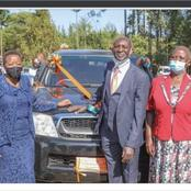 Rachel Ruto And School Alumni Colleagues Gift Former Headteacher A Mercedes car
