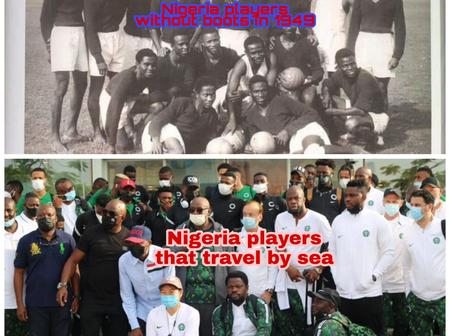 History Made: See The Last Time Nigerian Footballer Travel By Boats And Why They Play Without Boots
