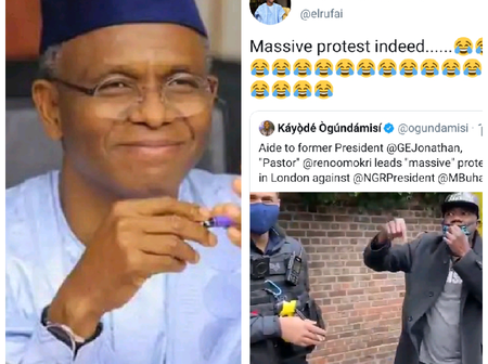 Nigerians Reply El Rufai's Tweet Over Recent Protest In London, Check Out His Tweet And Reactions