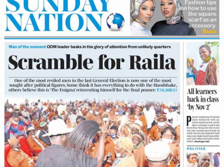 11th: Sunday Nation And Sunday Standard Headlines
