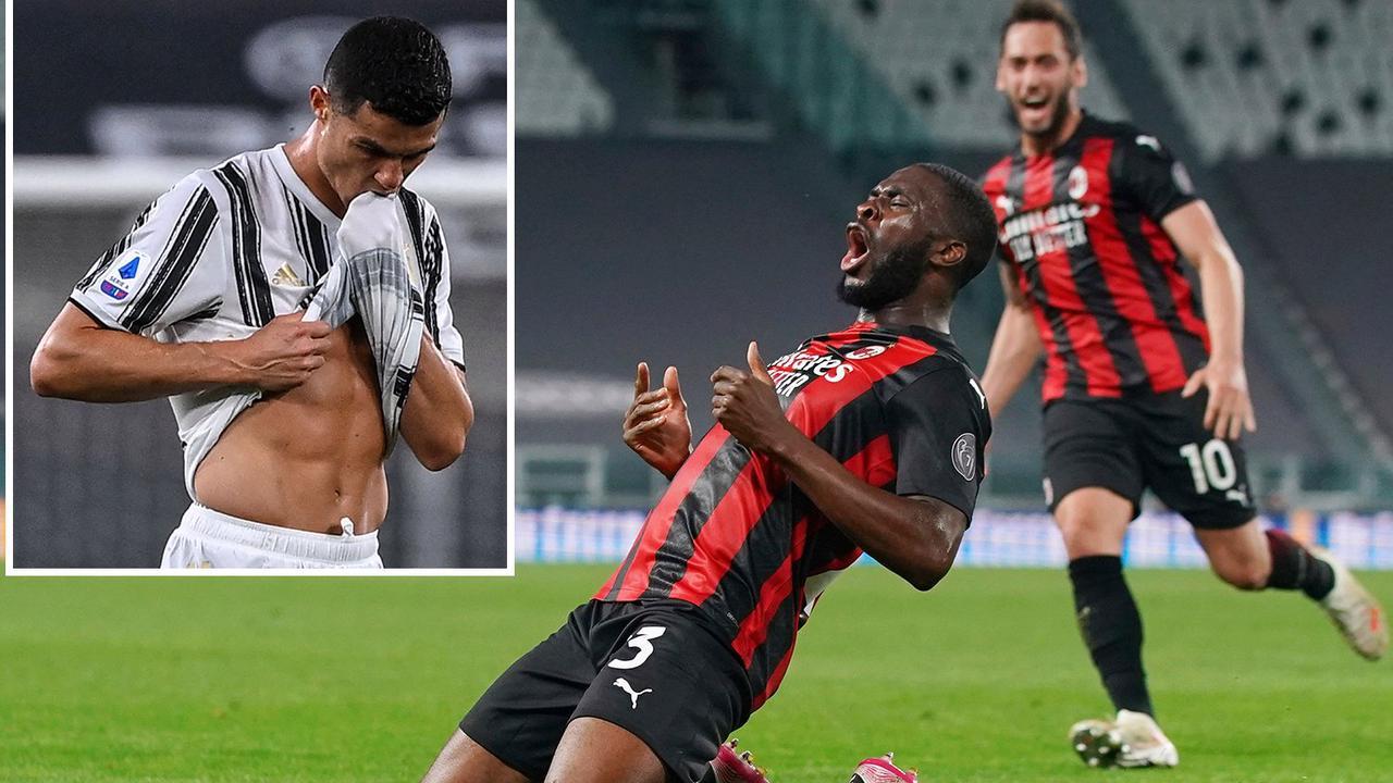Juventus 0 AC Milan 3: Chelsea ace Tomori scores as hosts crash out of top four