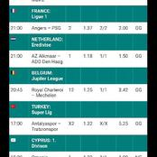 Today's Sure Hot Favorite Accumulator With (18 Odd) To Bank On