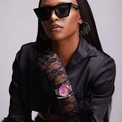 DJ Zinhle has this expensive pink watch which Mzansi is going crazy over because it looks amazing