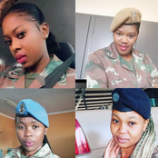 Beautiful women in the forces Mzansi show some love to our female SANDF members