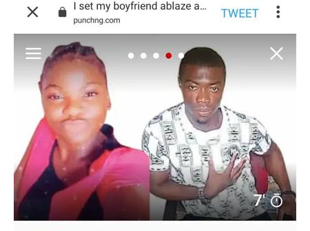 I set him ablaze because we took blood oath and I aborted for him 3 times -17 year old lady narrates