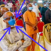 Photos: See the facemask that a man wore to church that sparked reactions from people