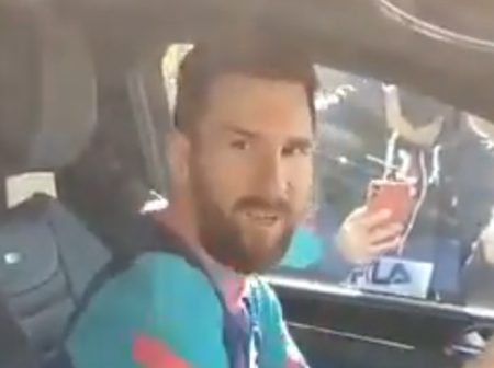 Lionel Messi Angrily fires a fan for recording him