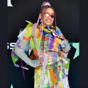 Sho Madjozi is shining on a billboard in Times Square in New York