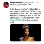 Ndlozi supports what Miss S.A 's tweet